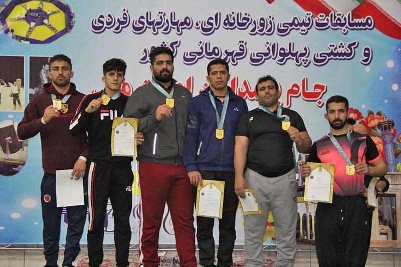 قهرمانان کشتی پهلوانی جام پاسداران شهید امنیت ملی تعیین شدند