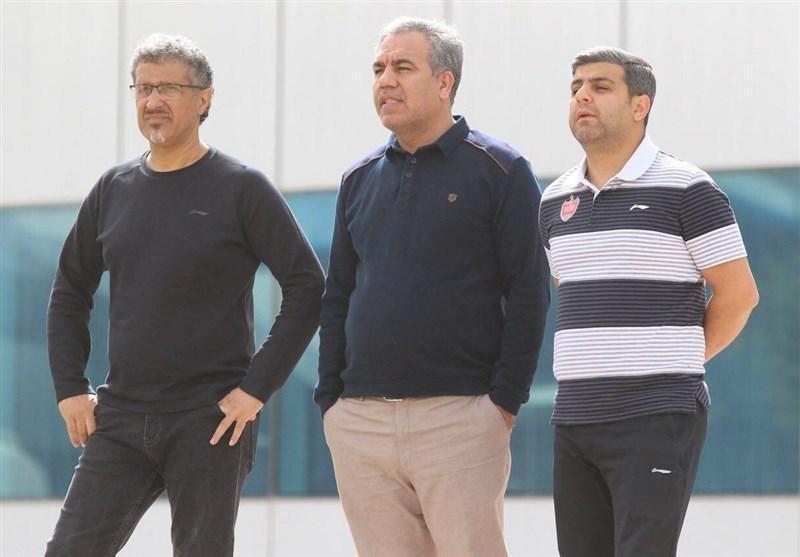حضور عرب در تمرین پرسپولیس و صحبت با برانکو