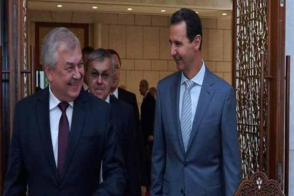 رایزنی بشار اسد با فرستاده ویژه پوتین در امور سوریه