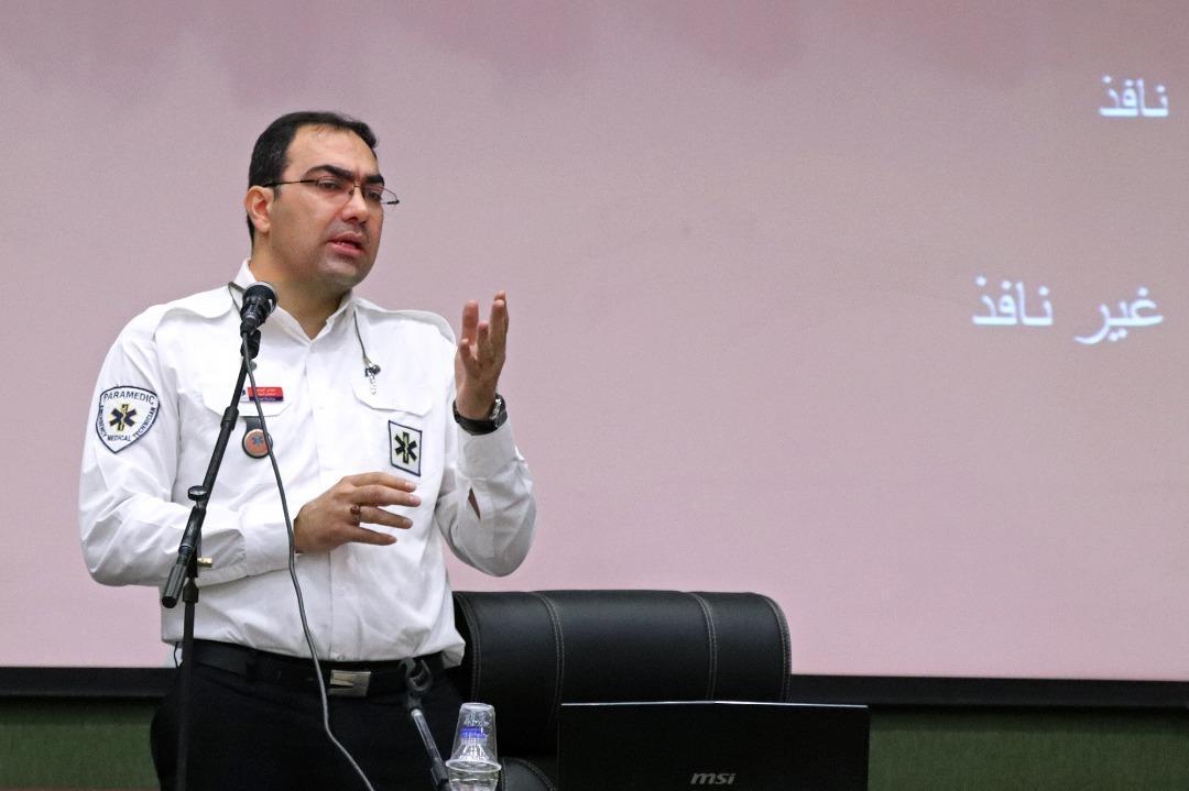 یاری های اولیه به پلیس راهور تهران آموزش داده شد