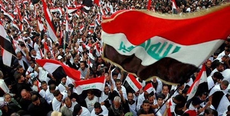 عراقی ها با خانواده هایشان در تظاهرات میلیونی ضد آمریکایی شرکت نمایند