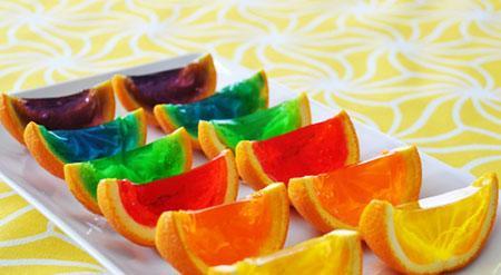 طرز تهیه ژله در پوست میوه
