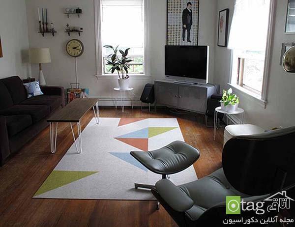 راهنمای انتخاب مدل قالیچه شیک و زیبا مناسب اتاق نشیمن