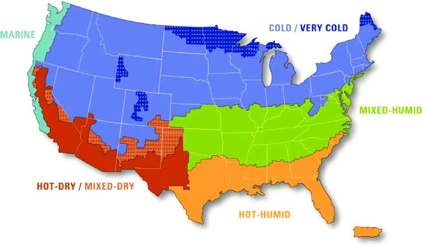 آب و هوای آمریکا