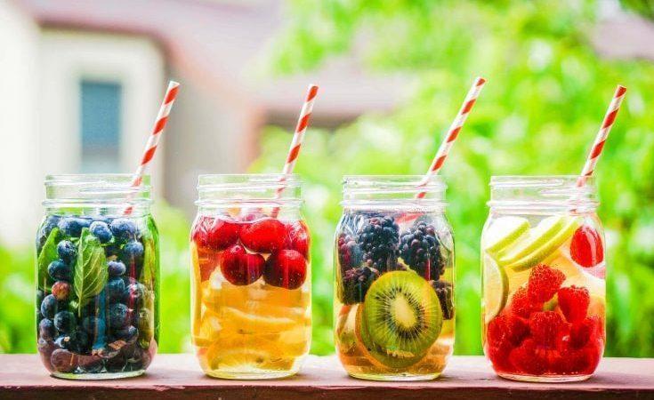 طرز تهیه آب طعم دار میوه ای