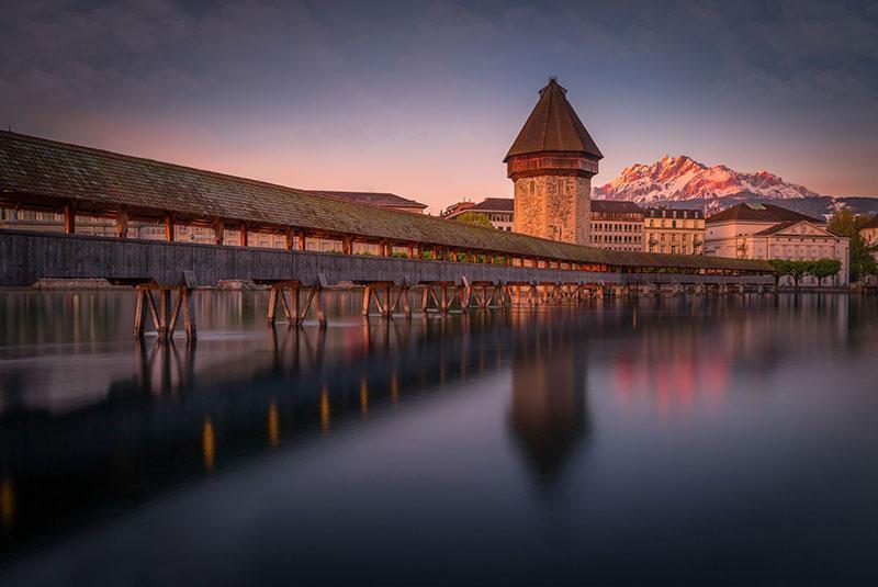همه چیز درباره پل چپل در شهر لوسرن سوئیس، عکس