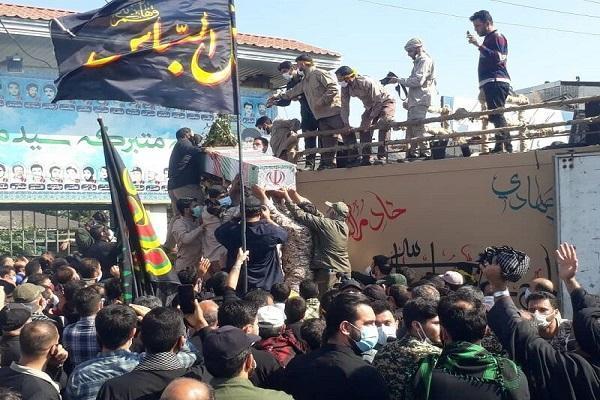 پیکر شهید محمد بلباسی در قائمشهر تشییع و خاکسپاری شد