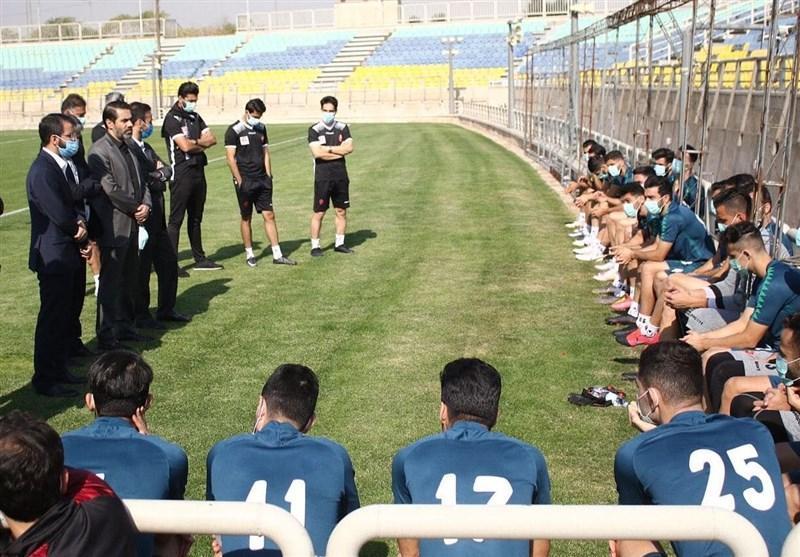 حضور مدیرعامل جدید پرسپولیس در تمرین سرخپوشان، گلایه های حسینی از مسائل و صحبت سمیعی با بازیکنان و گل محمدی