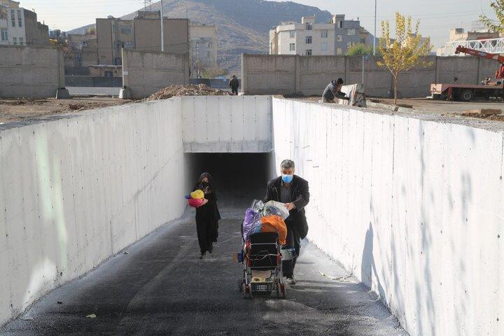 اتمام عملیات احداث زیرگذر بزرگراه شهید نجفی رستگار در منطقه 15
