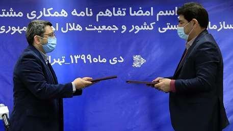 امضای تفاهم نامه همکاری مشترک میان هلال احمر و سازمان بهزیستی کشور