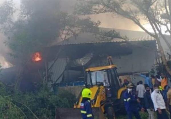 آتش سوزی در کارخانه مواد شیمیایی هند 18 کشته برجای گذاشت